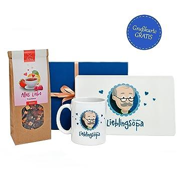 Amazon De Opa Geschenk Mit Opa Tasse Und Tee In Geschenkbox