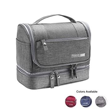 a82ae36e133f EcoLifeDay Handing Toiletry Bag, Well Divided Toiletry Bag for Travel,  Waterproof Travel Large Dopp Kit