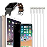 Feel2Nice 10 FT Lightning Cable Charger,5 pcak 10FT iPhone Long Charger USB Cables Cord 8 Pin to Charger for iPhone X 8/8 Plus/ 7 /6s / 6 Plus / 6s Plus/iPhone 5 / 5s / 5c / iPad/iPod, White