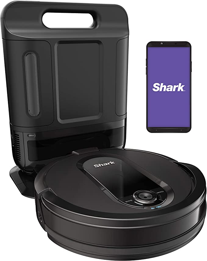 Amazon.com - Shark IQ Robot Self-Empty XL RV1001AE, Robotic Vacuum, IQ Navigation, Home Mapping, Self-Cleaning Brushroll, Wi-Fi Connected, Works with Alexa -Live viewers eye icon