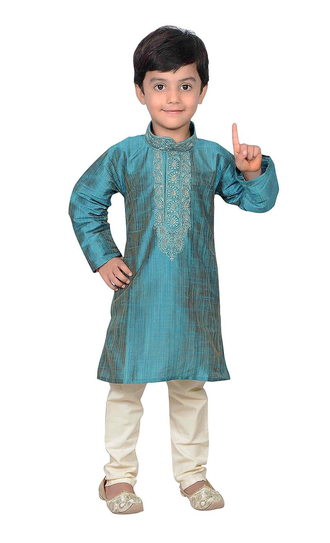 Amazon.com: Boys Bollywood Fashion Kids Kurta Pyjama Sherwani 933 ...