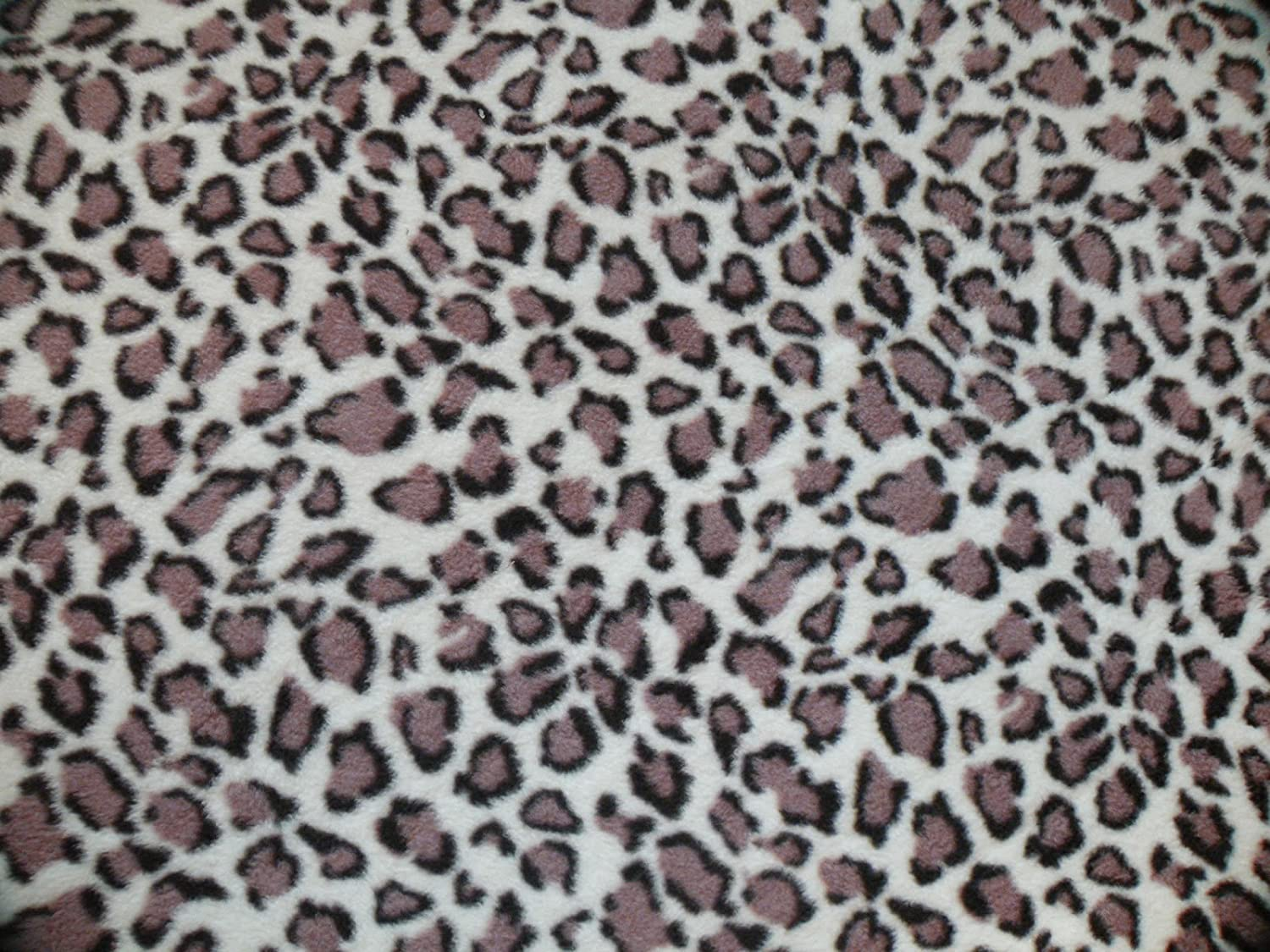 Bonnie Creations Pet Blanket, Polar Fleece, Snow Leopard Print (95 x 70 cm : 38 x 28 inches)