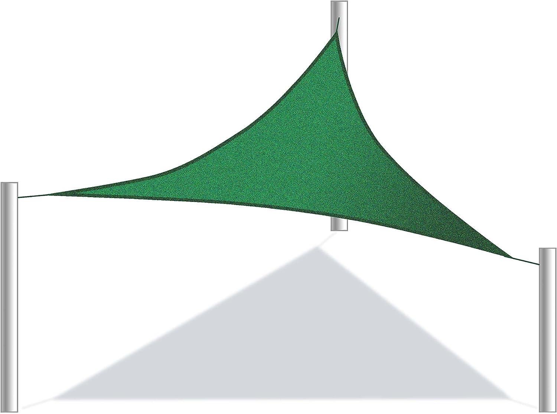 ALEKO 12 x 12 x 12 pie triangular Sun Sail 3 anillos Shade Red UV ...