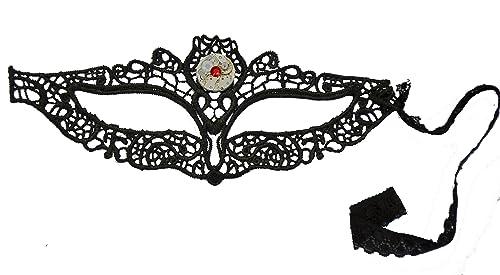 Steampunk de encaje negro máscara de búho. Hecho a mano en Cornwall, Reino Unido