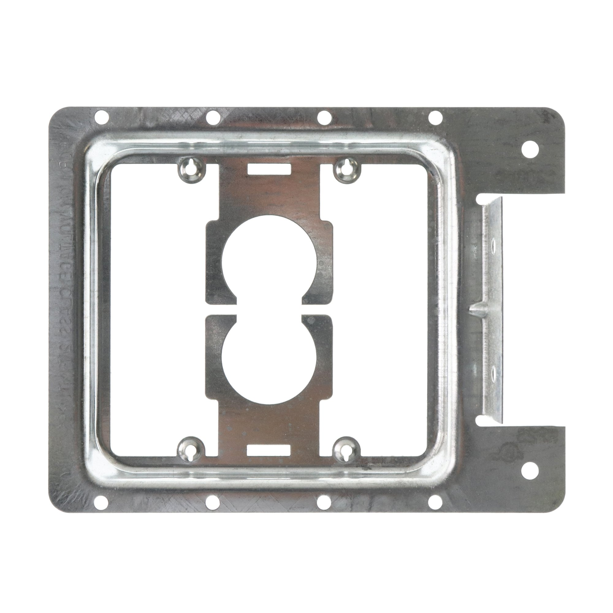 Caddy Erico MP2S Low Voltage Mounting Bracket Plate, 2-Gang, Nail-On, (25-Pack)