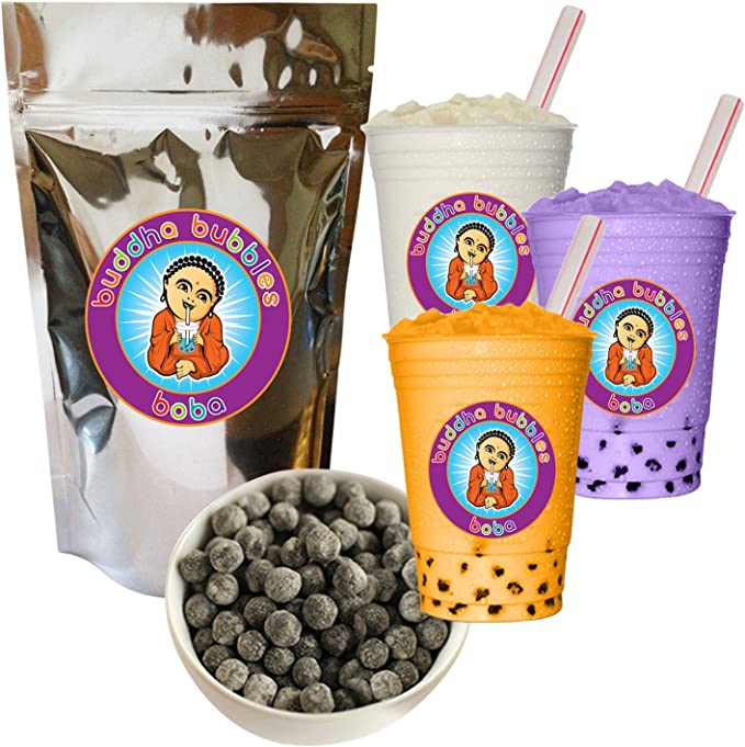 Great For BOBA Bubble Tea or even Smooth BearTiger ECO/™ Bubble Tea Kit Includes a 1KG Bag of Instant Black Boba Tea Tapioca Pearls 1 Bent Reusable Glass Drinking Straw 1 Cleaning Brush and 1 Carrying Bag 1 Wide Reusable Clear Glass Drinking Straw