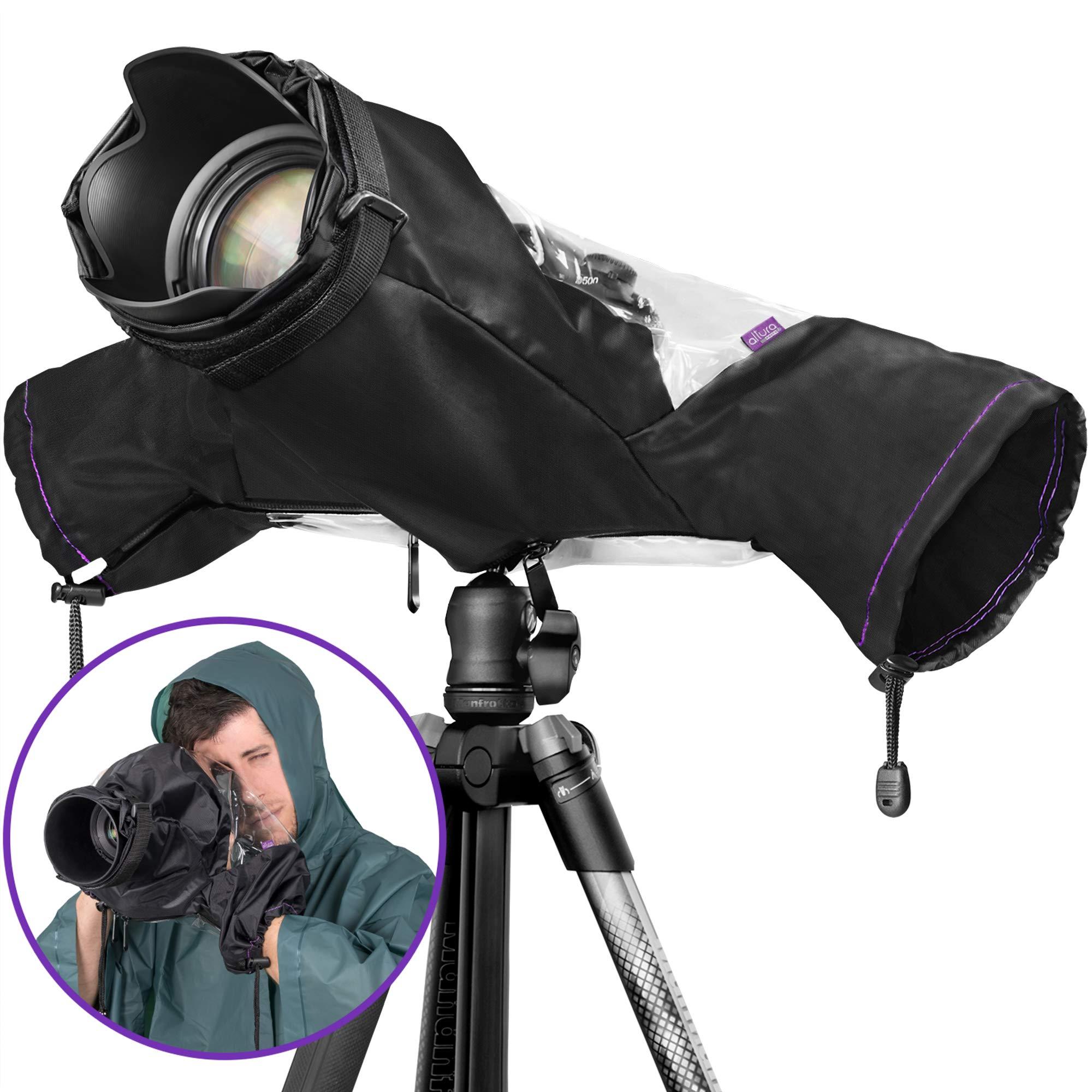 Altura Photo Professional Rain Cover for Large Canon Nikon DSLR Cameras by Altura Photo