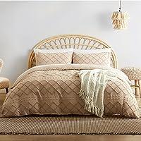 Bedsure 3-Pieces Tufted Duvet Cover Set Queen Size