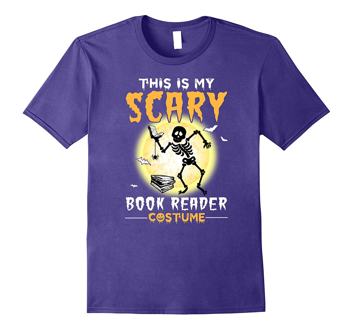 This is My Scary Book Reader Halloween Costume T-Shirt-TJ