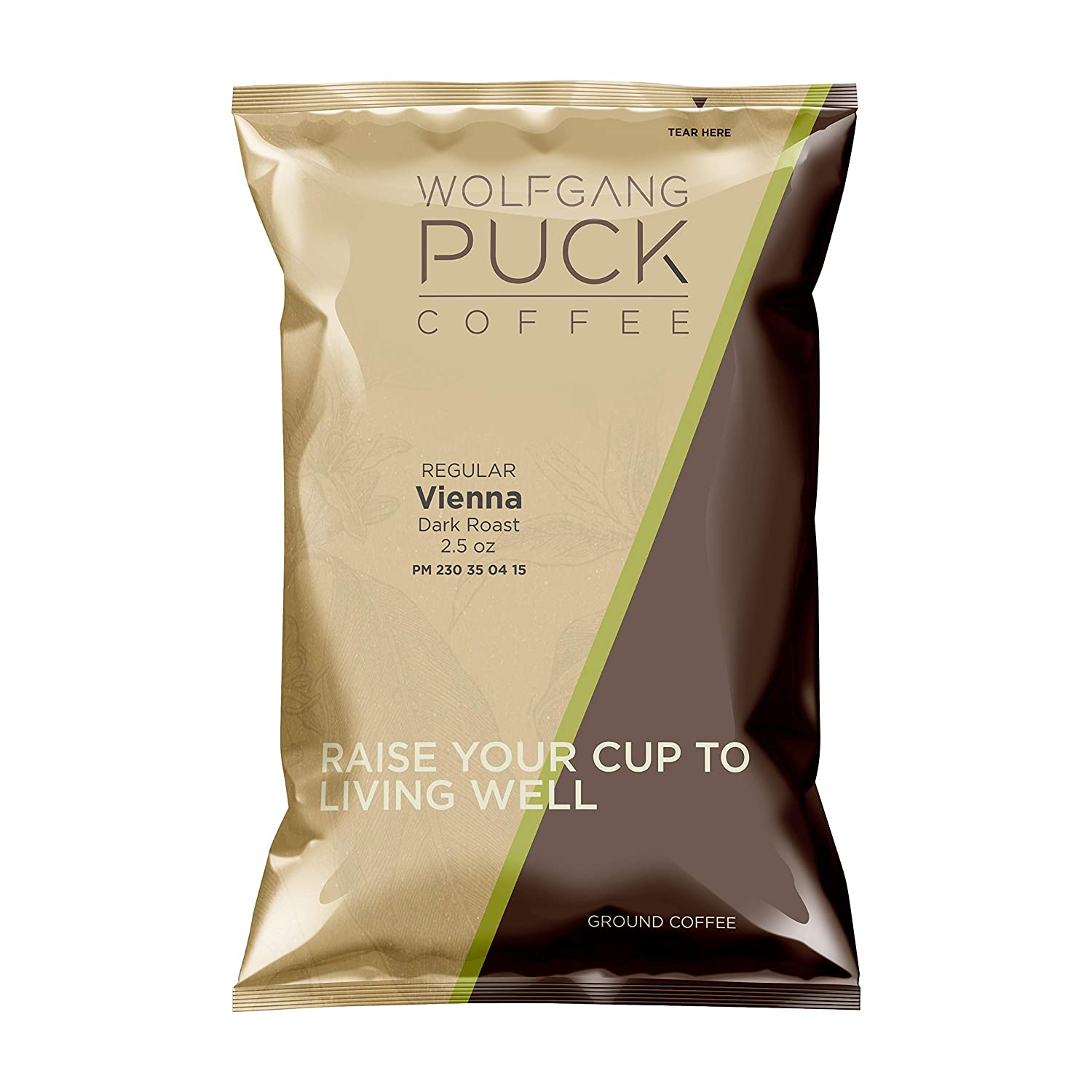 Wolfgang Puck Coffee, Vienna Coffee House, each 2.5 ounce Portion Pack makes 8-10 cups (Pack of 18)