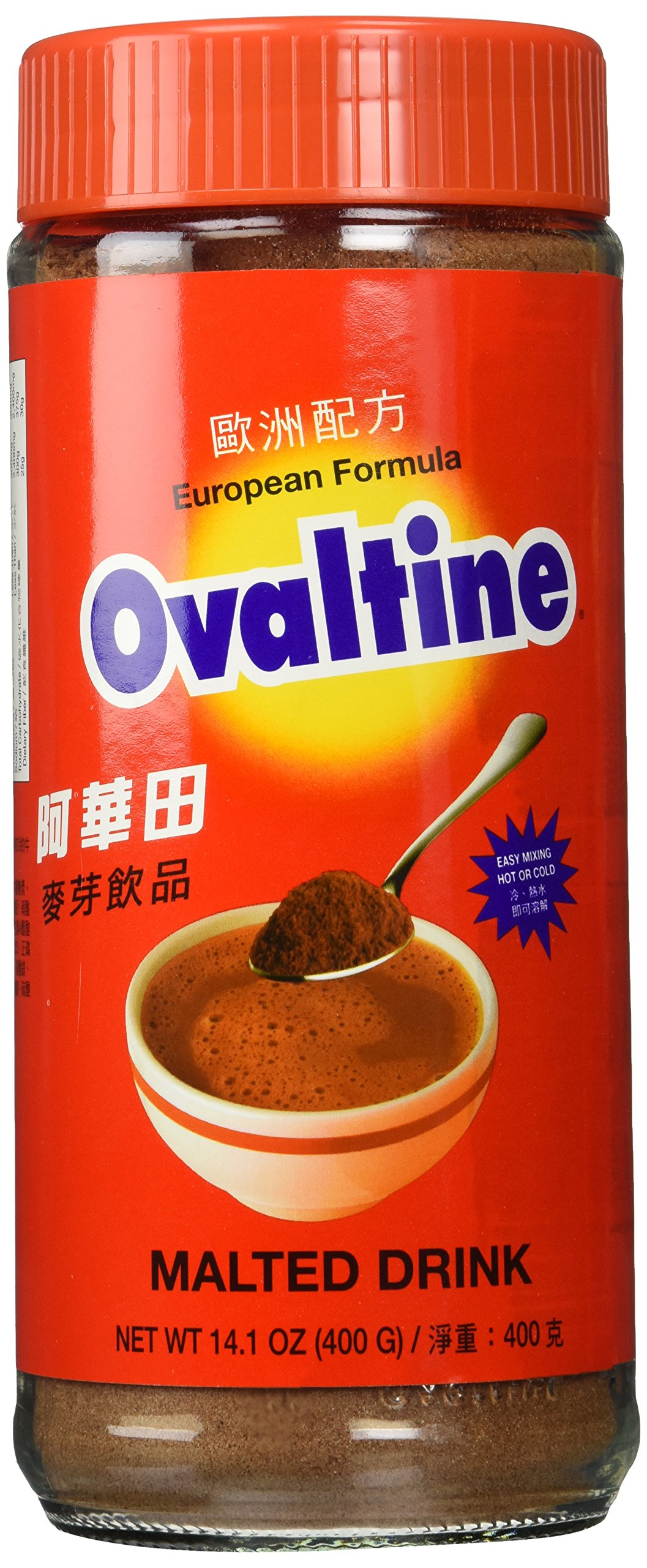Ovaltine European Formula Malted Drink 14.1 Oz - 400g Bottle