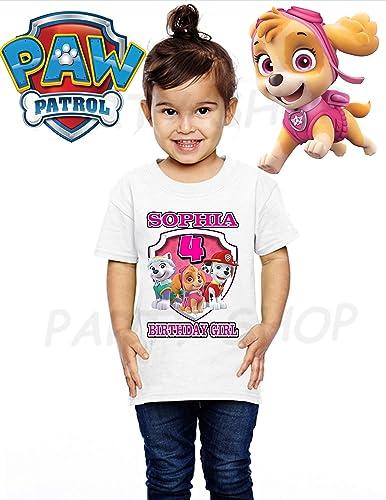 Paw Patrol GIRLS BIRTHDAY SHIRT T SHIRTS PAW PATROL Birthday PartyADD Any Name And Age FAMILY Matching Shirts Girls ShirtsPaw