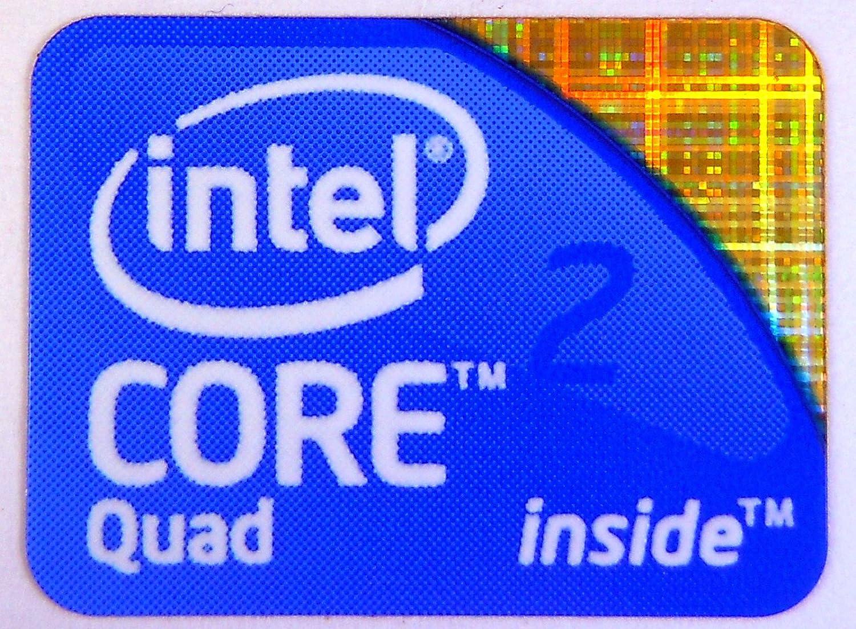 4 Intel Inside Core 2 QUAD PC Laptop Case BADGE Adesivi