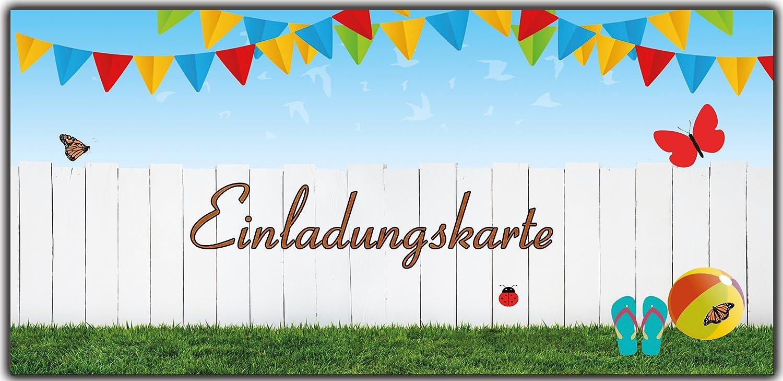 Einladungskarten als Eintrittskarte Einladung Geburtstag Gartenparty Sommerparty - 100 Stück Stück Stück B01EXKESFA   Schönes Design    Zahlreiche In Vielfalt    Verrückter Preis  d802df