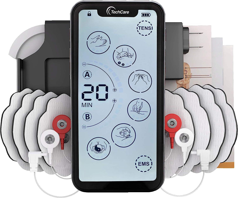 Tens Unit Muscle Stimulator 24 Massage Mode Tens EMS Machine Device Touchscreen Massager Intensity Deep Tissue Shoulder Pain Relief Sciatica Tendonitis Plantar Fasciitis