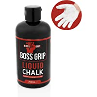 Boss Grip Liquid Chalk | Perfect For Grip Support For Extra Strength & Sweat Free Hands in Gym, Bodybuilding, Powerlifting, CrossFit, Rock Climbing, Gymnastics & Pole Fitness - 250ml 200+ uses