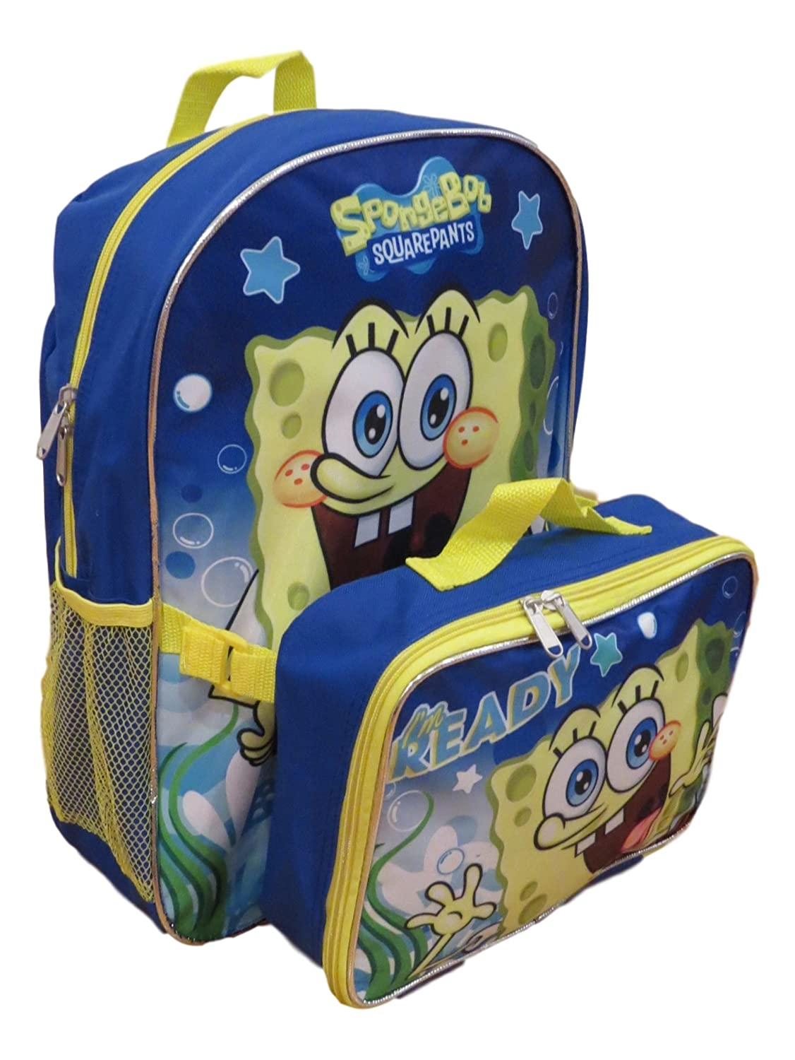 Spongebob 16 Backpack with Detachable Matching Lunch Box