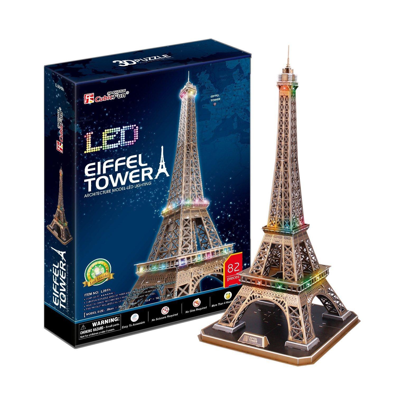 3D PUZZLE LED TORRE EIFFEL 82 PIEZAS