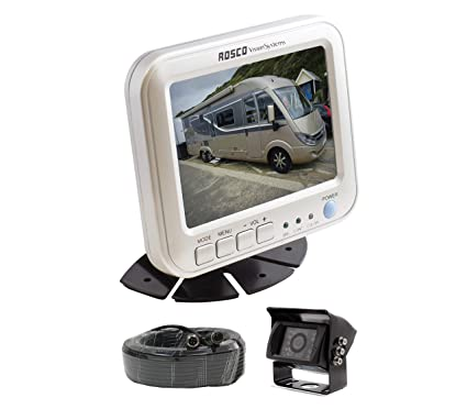 Rearview Backup Camera System Complete with 5-inch Color Monitor, Weather  Proof Camera, 65-ft Harness