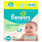 Amazon Price History for:Pampers Baby Wipes Natural Clean 9x Refill 648 Count