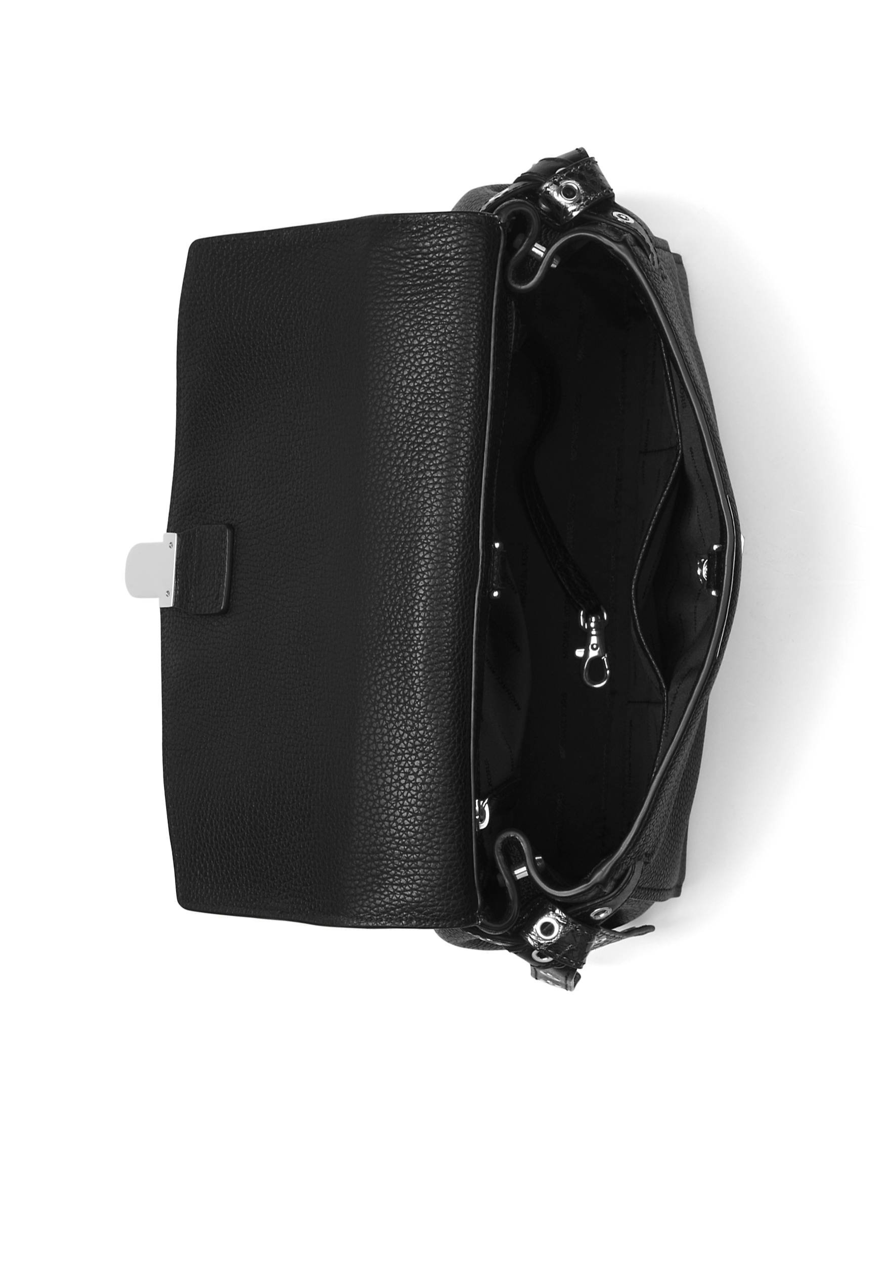 MICHAEL Michael Kors Bristol Metallic Embossed-Leather Satchel , Black Pewter by MICHAEL Michael Kors (Image #6)