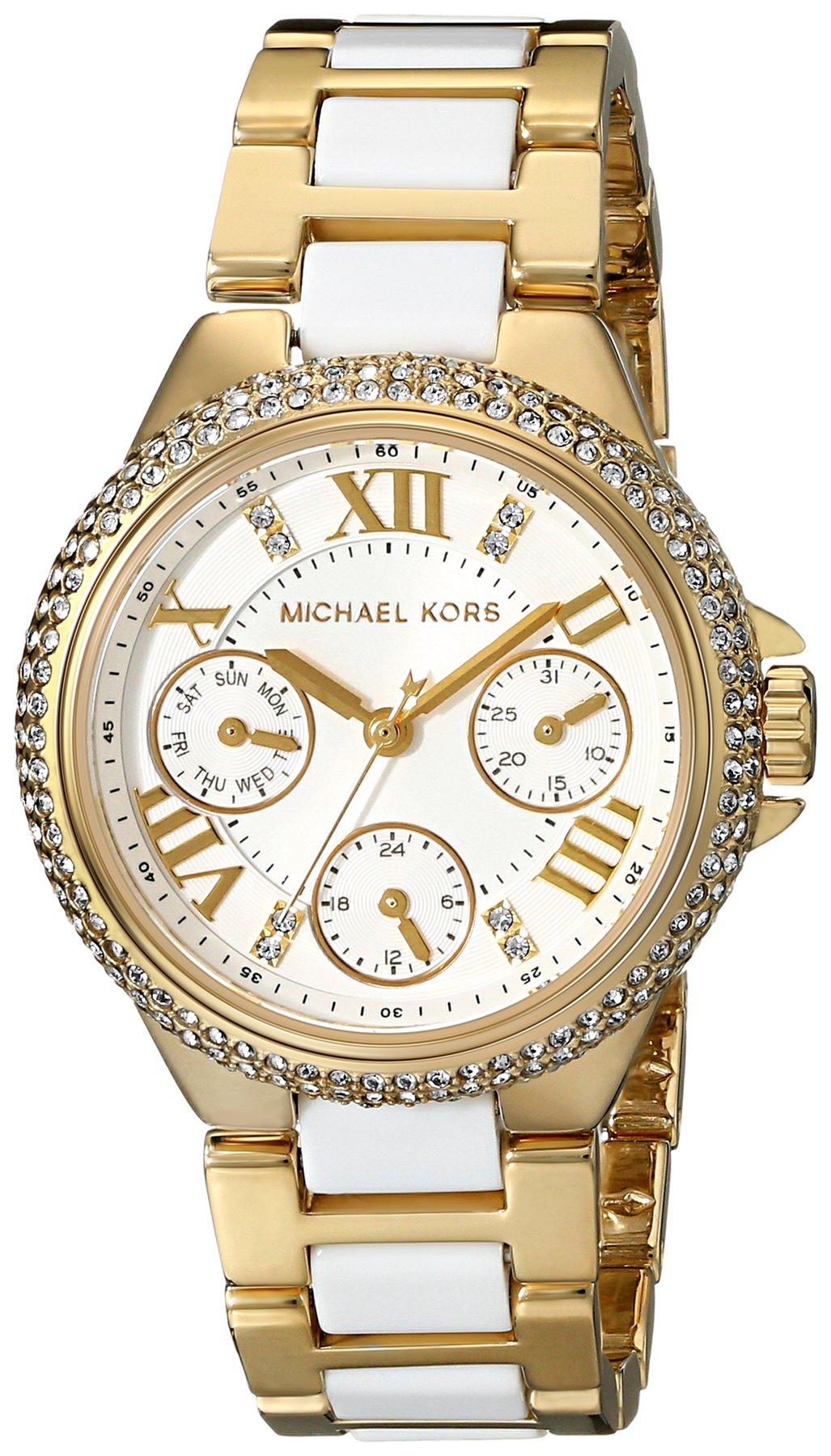 Michael Kors Mini Camille White Dial Quartz Chrono Ladies Watch MK5945