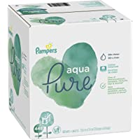 Baby Wipes, Pampers Aqua Pure Sensitive Water Baby Diaper Wipes, Hypoallergenic and Unscented, 8X Pop-Top Packs, 448…