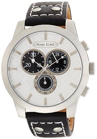 Marc Ecko Reloj Cronógrafo para Hombre de Cuarzo con Correa en Cuero E14539G1: Amazon.es: Relojes