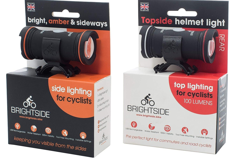 【期間限定送料無料】 ブライトサイドツインパック B077MJLKDZ。サイクリストサイドライト付き自転車ヘルメットライト。 B077MJLKDZ, カミグン:184d22b2 --- agiven.com
