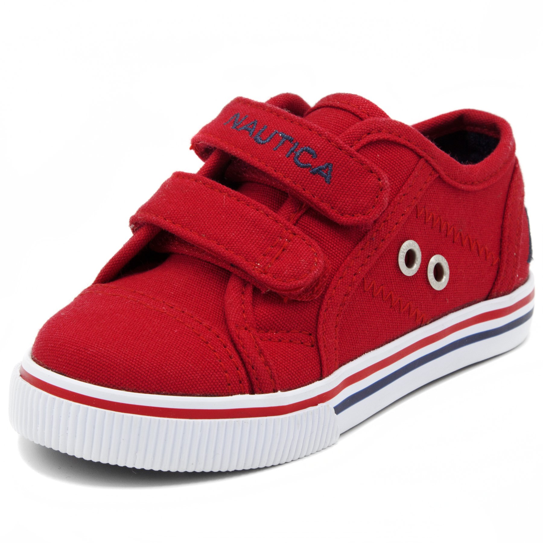 Nautica Kids Colburn Casual Shoes, Velcro Fashion Sneaker Boys Girls-Red-5