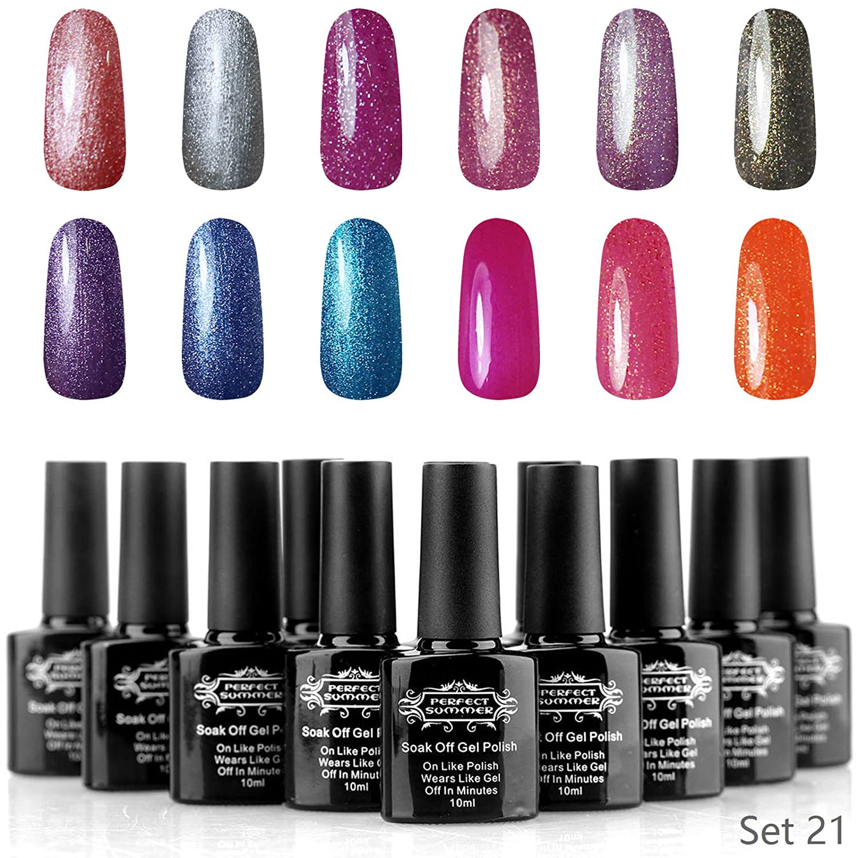 Amazon.com : Perfect Summer Pro Gel Nail Polish UV LED Soak Off Nail ...