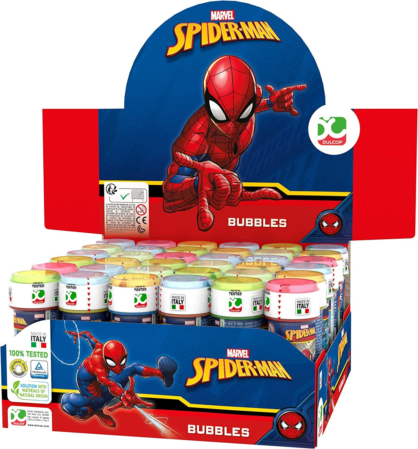 ColorBaby - Caja pomperos Spiderman con 36 Unidades de 60 ml (22985)