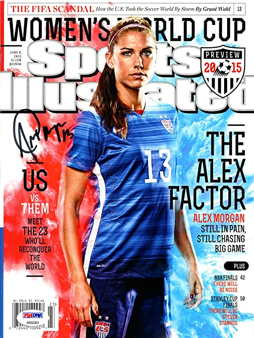 bd9e338f66f Image Unavailable. Image not available for. Color  Alex Morgan Signed Auto  Sports Illustrated Magazine Team USA - PSA DNA Authentic