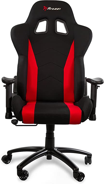 Amazon.com: Arozzi Inizio Ergonomic Fabric Gaming Chair with High Back, Rocking & Recline Function - Red: pc: Video Games