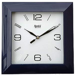 Ajanta Plastic Wall Clock (175 cm x 175 cm x 35 cm, Black)