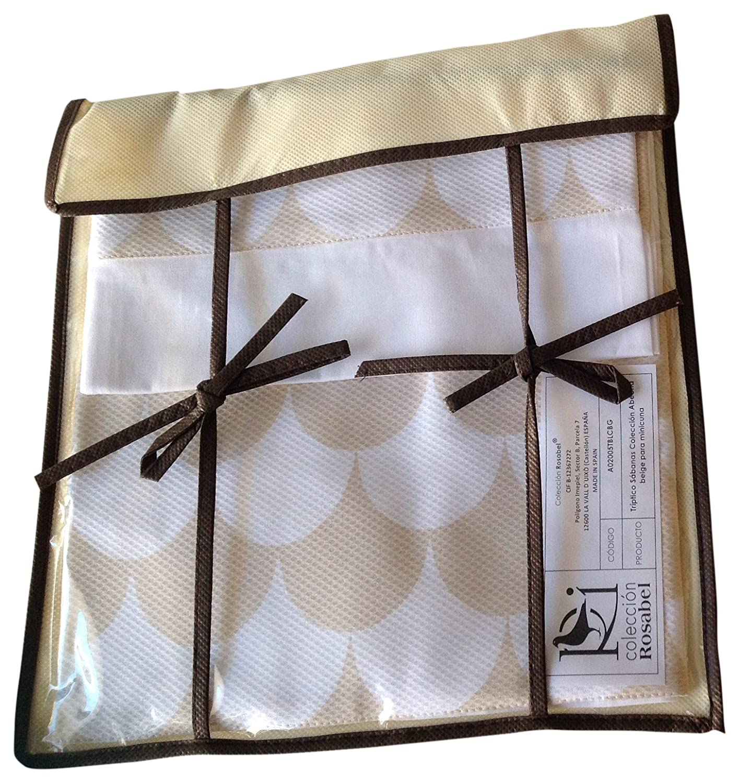 Colección Rosabel Abeona - Juego de sábanas para cuna, color beige: Amazon.es: Bebé