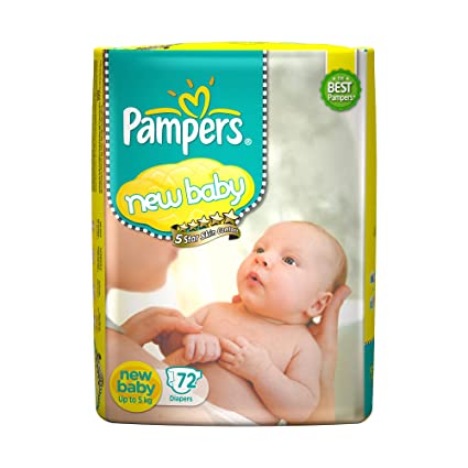 2d483c171b0 Buy Pampers Active Baby New Born Diapers (72 Count) Online at Low Prices in  India - Amazon.in