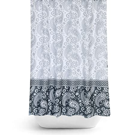 Extra Wide Bespoke Size Fabric Shower Curtain 240CM By 180CM Drop Damask