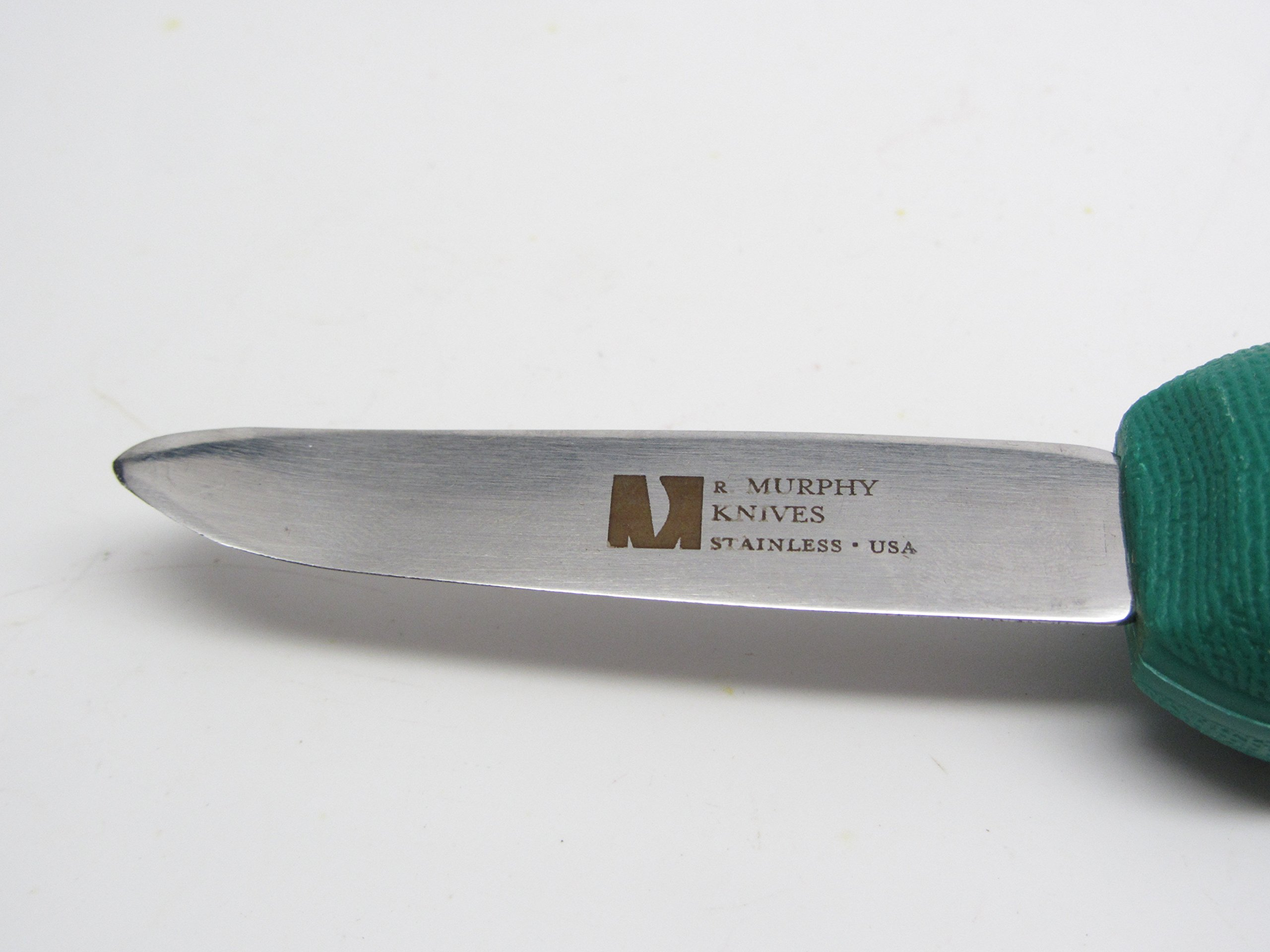 R Murphy New Haven Oyster Knife Shucker (Green Handle)