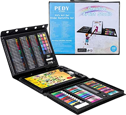 Pedy 208 Pcs Mallette Dessin Set De Dessin Efant Mallette De Coloriage Crayons De Couleur Coffret Dessin Accessoires De Dessin Cadeau Ideal Pour Les Enfants Amazon Fr Cuisine Maison