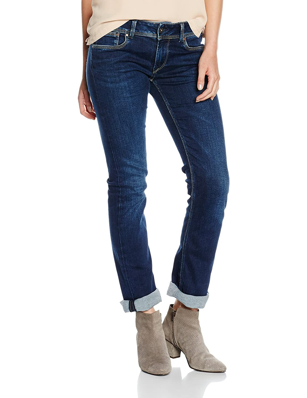 Pepe Jeans London Damen Jeans Saturn - Slim Fit - Blau - Dual Core Indigo
