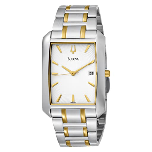Bulova Mens 98B123 Bracelet White Dial Watch