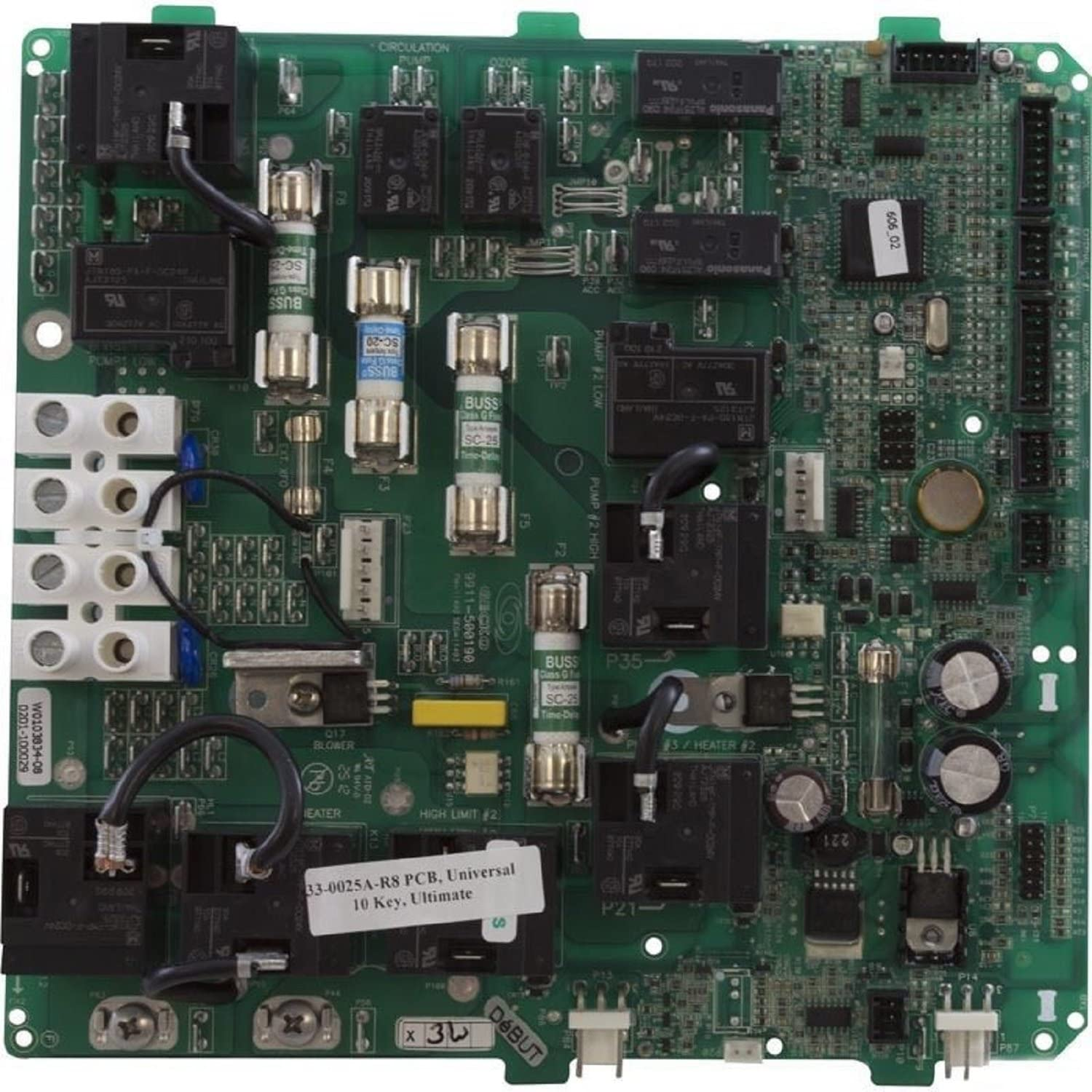 Amazon.com : Hydro-Quip 33-0025A-K 230V Circuit Board PCB Ultimate Plus :  Replacement Household Furnace Control Circuit Boards : Garden & Outdoor | Hydro Quip Heater Wiring Schematics |  | Amazon.com
