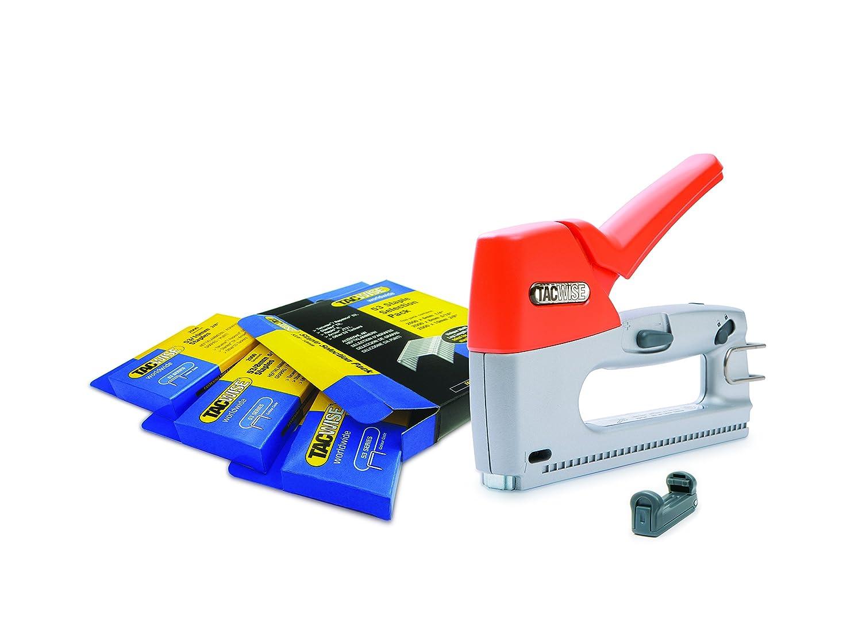 Tacwise Z3-53 clavos 180 mas caja de grapas de varios tama/ños Grapadora // clavadora manual met/álica para grapas de 53