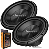 """Pair of Pioneer TS-A300D4 12"""" Dual 4 Ohms Voice Coil Subwoofer - 1500 Watts (2 Subwoofer)"""