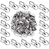 1 Inch Key Fob Hardware Key Chain Fob Wristlet Hardware with Key Ring for Lanyard (50 Pieces)