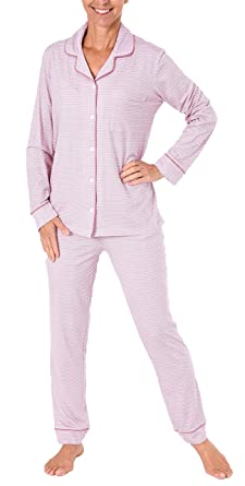 sports shoes 4e744 7ed63 NORMANN WÄSCHEFABRIK Edler Damen Pyjama, Schlafanzug Langarm zum Knöpfen in  Single Jersey - 281 201 90 350