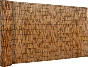 DearHouse Natural Reed Fencing, Eco-Friendly Reed Fence, 3.3 feet High x 13.3 feet Long, Reed Screen for Garden, Privacy