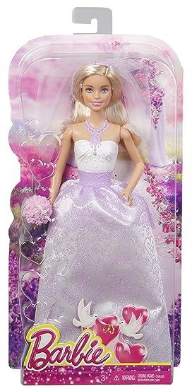 Barbie Muñeca, traje de novia, color blanco (Mattel DHC35)