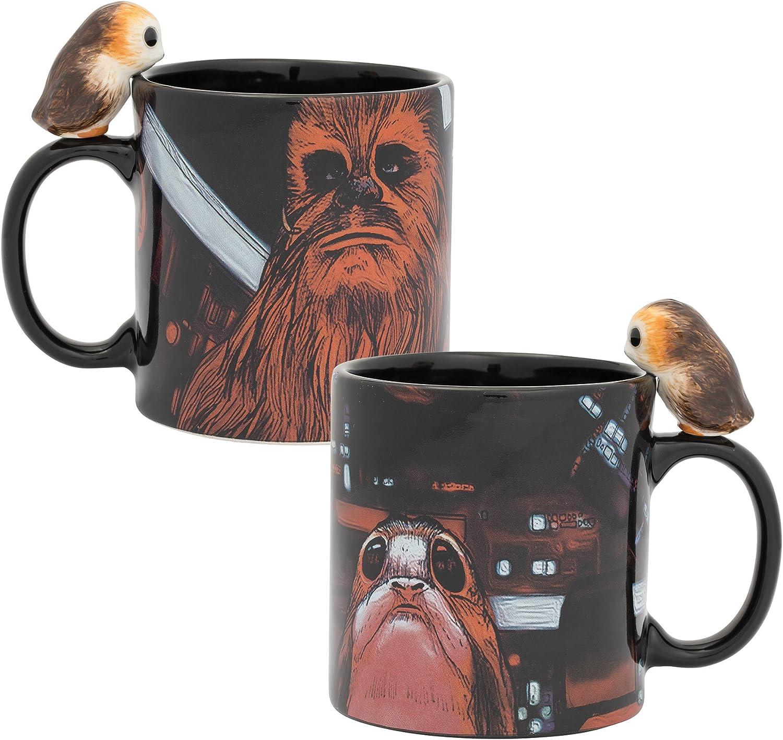 Vandor 56111 Star Wars Peeking Porg 20 oz. Sculpted Ceramic Mug,Multicolored